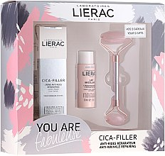 Parfumuri și produse cosmetice Set - Lierac Cica-Filler Set (f/cr/40ml + f/milk/30ml + roller/1pcs)