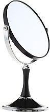Parfumuri și produse cosmetice Oglindă cosmetică, dublă, 85642, neagră - Top Choice