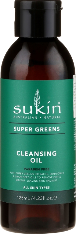 Ulei pentru înlăturarea machiajului - Sukin Super Greens Cleansing Oil — Imagine N1
