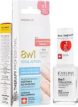 Parfumuri și produse cosmetice Întăritor pentru unghii 8 în 1 - Eveline Cosmetics Nail Therapy Total Action 8 in 1