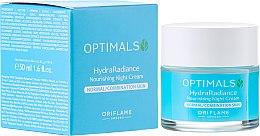 Parfumuri și produse cosmetice Cremă hidratantă de noapte pentru piele normală și combinată - Oriflame Optimals Hydra Radiance Nourishing Night Cream