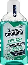 Parfumuri și produse cosmetice Agent de clătire pentru cavitatea bucală, împotriva plăcii - Pasta Del Capitano Plaque Remover Mouthwash