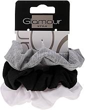 Parfumuri și produse cosmetice Elastice de păr, 420, negru+gri+alb - Glamour