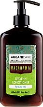 Parfumuri și produse cosmetice Balsam fără clătire pentru păr creț - Arganicare Macadamia Leave-In Conditioner