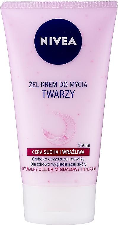 Cremă gel de spălare pentru piele uscată și sensibilă - Nivea Visage Cleansing Soft Cream Gel