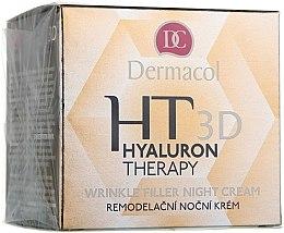 Parfumuri și produse cosmetice Cremă de noapte pentru față, cu acid hialuronic pur - Dermacol Hyaluron Therapy 3D Wrinkle Night Filler Cream
