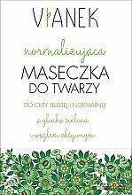 Parfumuri și produse cosmetice Mască normalizatoare pentru față - Vianek
