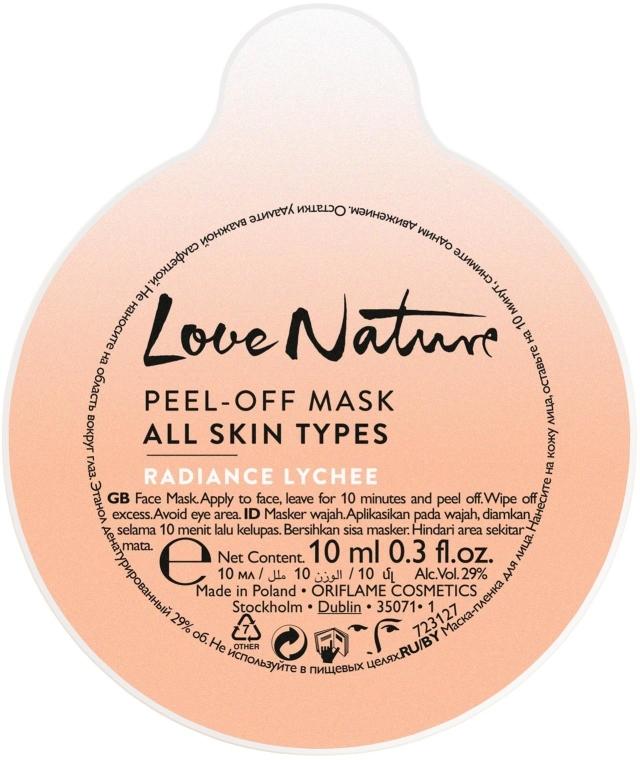 """Mască de față """"Liche"""" - Oriflame Love Nature Radiance Lychee Peel-off Mask (Mostră) — Imagine N1"""