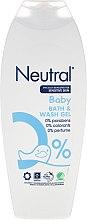 Parfumuri și produse cosmetice Gel de duș pentru copii - Neutral Baby Bath & Wash Gel