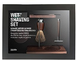 Set - Zew For Men Wet Shaving Set (soap/85ml + razor/1psc + sh/brush/1pcs + sh/cup/1pcs + sh/stand/1pcs) — Imagine N1