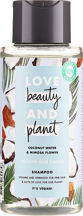 "Șampon ""Volum și Generozitate"" - Love Beauty&Planet Coconat Water & Mimosa Flower"