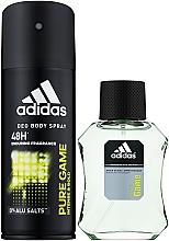 Parfumuri și produse cosmetice Adidas Pure Game - Set (deo/spray/150ml +sh/gel/50ml)