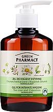 Parfumuri și produse cosmetice Gel cu extract de gălbenele si arbore de ceai pentru igiena intimă - Green Pharmacy