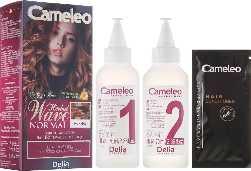 Loțiune pentru ondularea permanentă a tuturor tipurilor de păr - Delia Cameleo Herbal Wave