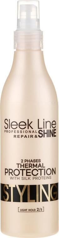 Soluție pentru îndreptarea părului, în două faze - Stapiz Sleek Line Thermal Protection 2 Phases