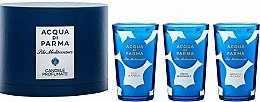 Parfumuri și produse cosmetice Acqua di Parma Blu Mediterraneo - Set (3xcandle/65g)