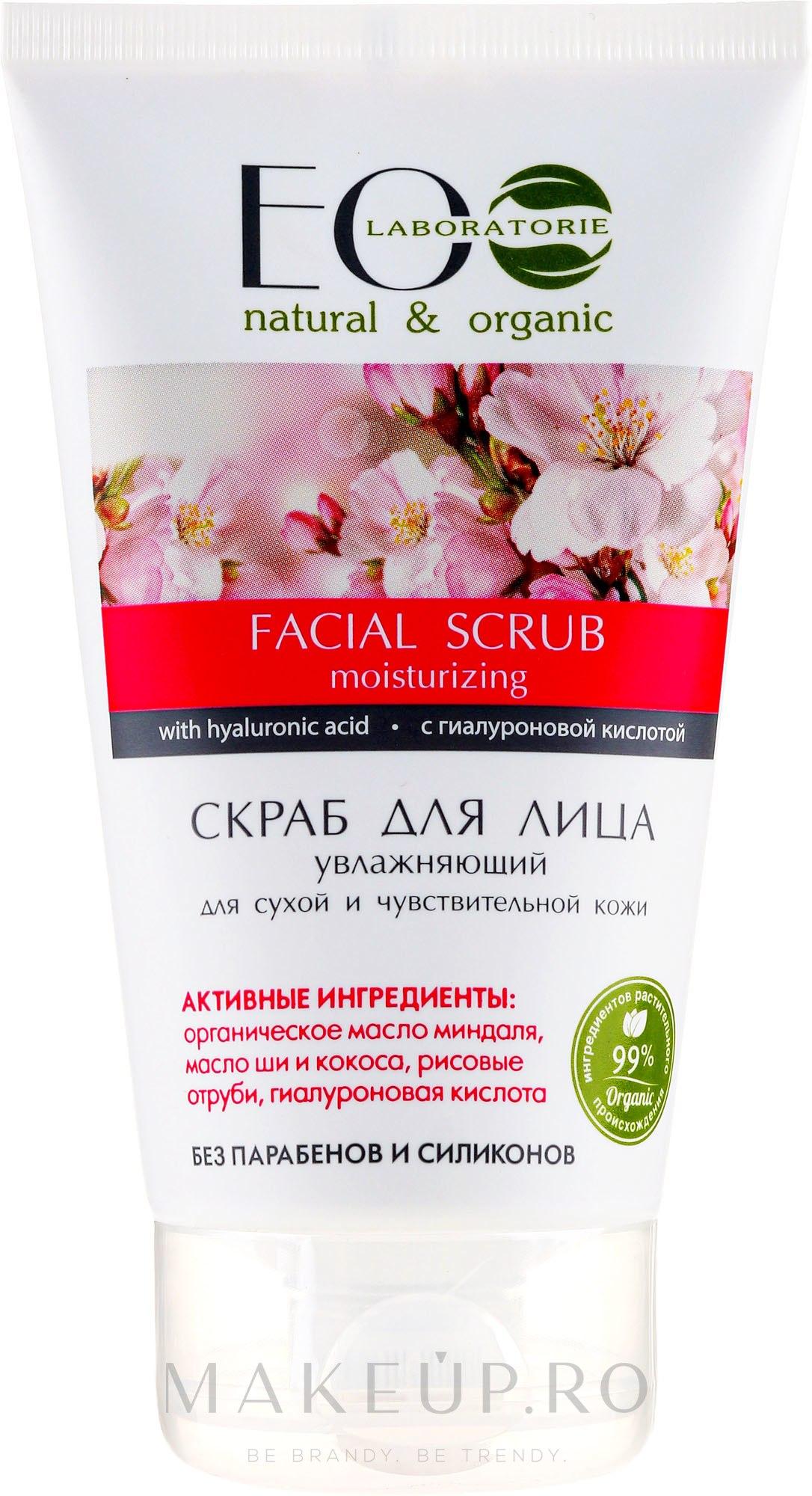 """Scrub pentru față """"Hidratant"""" - ECO Laboratorie Facial Scrub — Imagine 150 ml"""