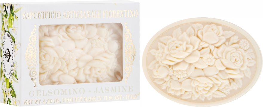 "Săpun natural ""Iasomie"" - Saponificio Artigianale Fiorentino Botticelli Jasmine Soap"