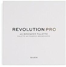 Parfumuri și produse cosmetice Paletă bronzer pentru față - Makeup Revolution Pro 4K Bronzer Palette