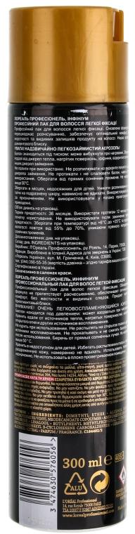 Lac de păr - L'Oreal Professionnel Infinium Soft Hairspray — Imagine N2