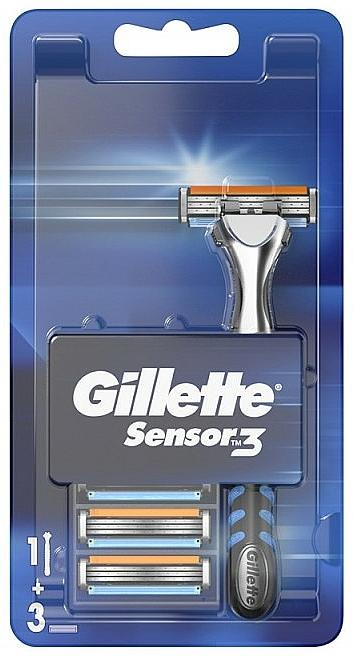 Aparat de ras cu 3 casete interschimbabile - Gillette Sensor 3