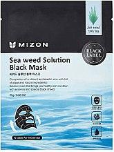 Parfumuri și produse cosmetice Mască neagră din țesătură cu alge marine - Mizon Seaweed Solution Black Mask