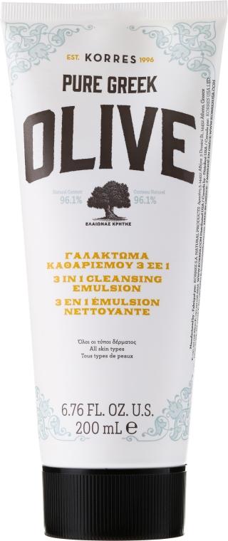 Emulsie de curățare pentru față - Korres Pure Greek 3 in 1 Cleaning Emulsion — Imagine N1