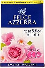 "Parfumuri și produse cosmetice Pliculeț aromatic ""Trandafir și Floare de lotus"" - Felce Azzurra Sachets Rose and Flowers Of Lotus"