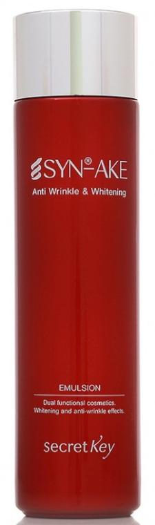 Emulsie anti-îmbătrânire pentru față - Secret Key SYN-AKE Anti Wrinkle & Whitening Emulsion — Imagine N1