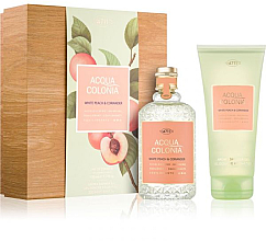 Parfumuri și produse cosmetice Maurer & Wirtz 4711 Aqua Colognia White Peach & Coriander - Set (col 170ml +sh/gel/200ml)