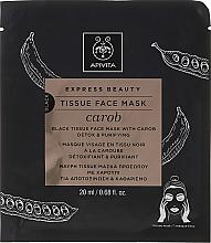 Parfumuri și produse cosmetice Mască-detox din țesătură pentru față - Apivita Express Beauty Tissue Face Mask Carob