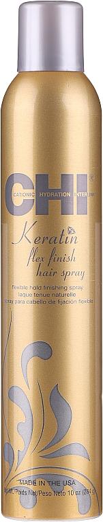 Lac fixatic cu fixare forte - CHI Keratin Flexible Hold Hair Spray — Imagine N1