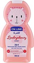 """Parfumuri și produse cosmetice Gel se spălare pentru păr, corp și față """"Candy"""" - On Line Le Petit Candy 3 In 1 Hair Body Face Wash"""