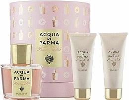 Parfumuri și produse cosmetice Acqua di Parma Rosa Nobile Set - Set (edp/100ml + sh/g/75ml + b/cr/75ml)
