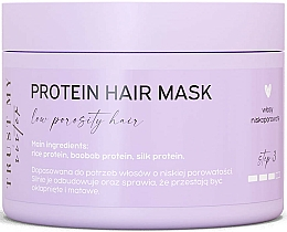 Parfumuri și produse cosmetice Mască de păr cu proteine (porozitate redusă) - Trust My Sister Low Porosity Hair Protein Mask