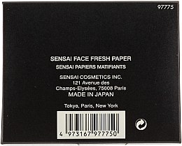 Șervețele răcoritoare pentru față - Kanebo Sensai Face Fresh Paper — Imagine N2