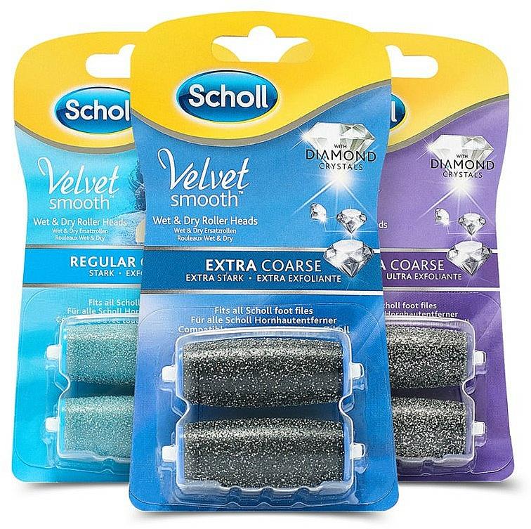 Duze role pentru pilă electrică - Scholl Velvet Smooth (3 x roller/2pcs) — Imagine N2