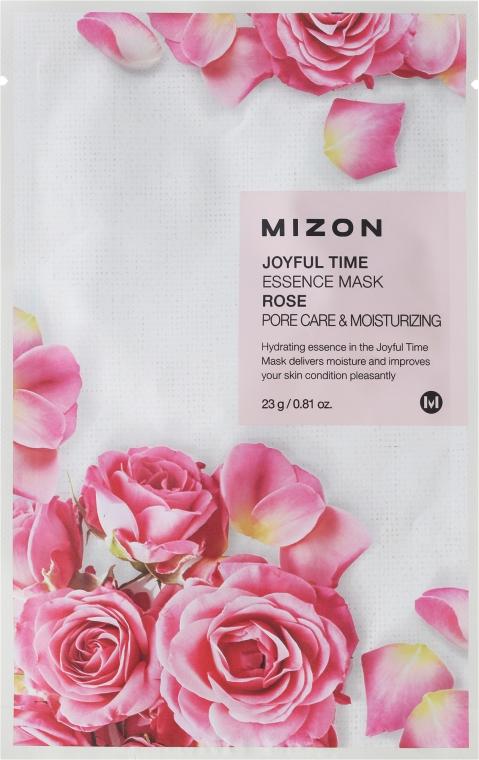 Mască de țesut cu extract de trandafir - Mizon Joyful Time Essence Mask Rose