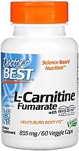 Parfumuri și produse cosmetice Aminoacid L-Carnitina Fumarat, 855 mg, Capsule - Doctor's Best