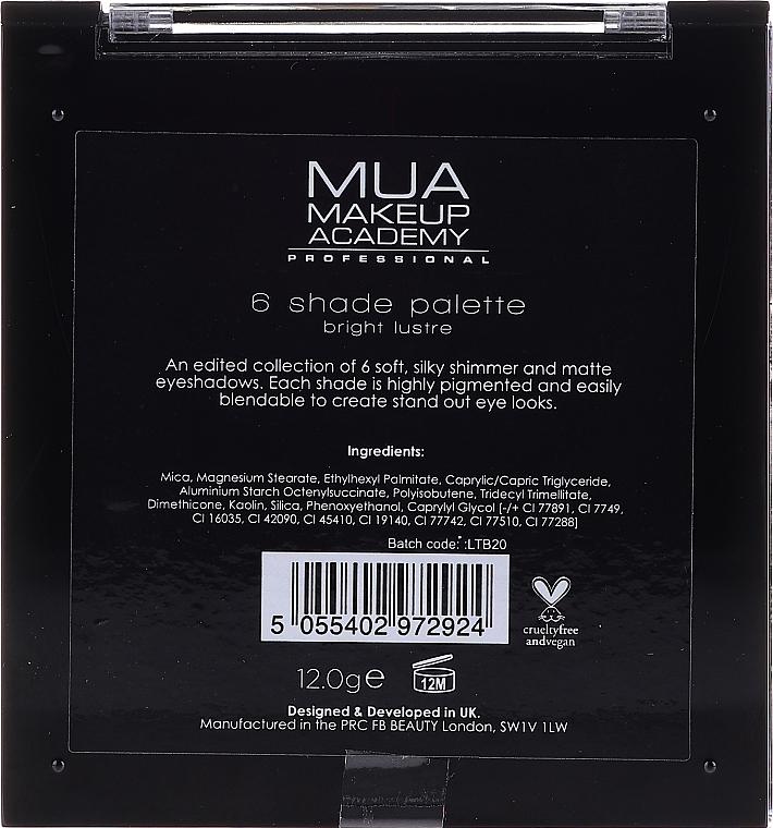 Paletă farduri de ochi - MUA Makeup Academy Professional 6 Shade Palette — Imagine N2