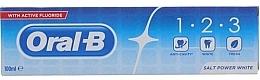 Parfumuri și produse cosmetice Pastă de dinți - Oral B 1-2-3 Salt Power White Toothpaste