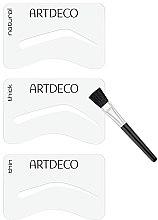 Șabloane pentru sprâncene - Artdeco Eyebrow Stencials with Brush — Imagine N3