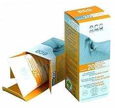 Parfumuri și produse cosmetice Cremă de protecție solară SPF 20 cu extract de rodie și cătină - Eco Cosmetics Suntan Cream SPF 20