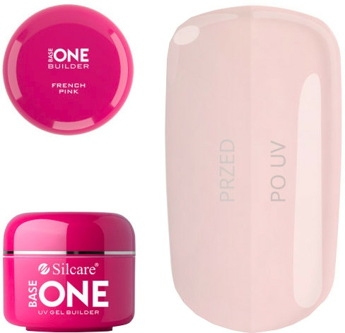 Gel de unghii - Silcare Uv Gel Builder Base One French Pink