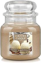 Parfumuri și produse cosmetice Lumânare aromatică, în borcan - Country Candle Coconut & Marshmallow