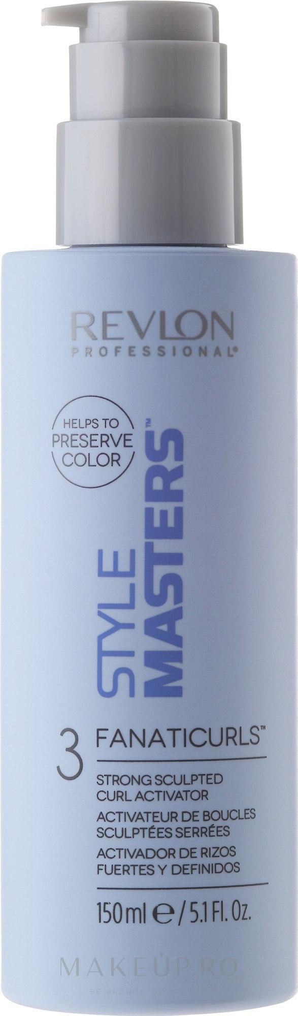Mousse regenerant pentru păr ondulat - Revlon Professional Style Masters Curly Fanaticurls — Imagine 150 ml