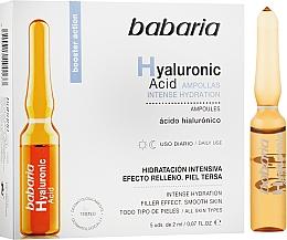 Parfumuri și produse cosmetice Fiole cu acid hialuronic - Babaria Hyaluronic Acid Ampoule