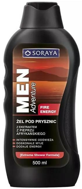 Gel de duș - Soraya Men Adventure Fire Energy — Imagine N1
