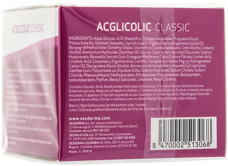 Cremă nutritivă de noapte - SesDerma Laboratories Acglicolic Classic Nourising Cream — Imagine N2