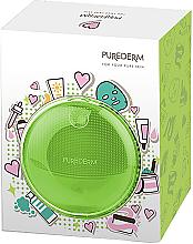Parfumuri și produse cosmetice Perie de curățare a feței, verde - Purederm Sonic Face Brush Green